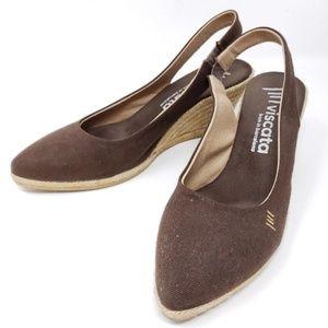 Viscata Espadrille Wedge Slingback Sandals